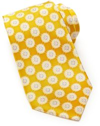 Valentino Floral Circle Pattern Tie - Lyst