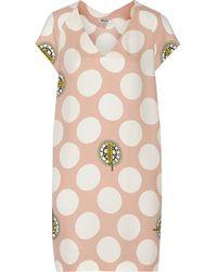 Kenzo Printed Crepe Mini Dress - Lyst