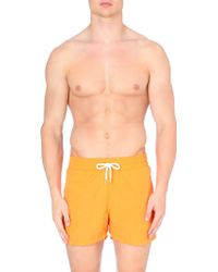 Frescobol Carioca Plain Drawstring Swim Shorts Orange - Lyst