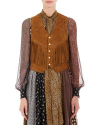 Saint Laurent Concho-Embellished Vest - Lyst