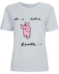 Paul Smith | Women's Light Blue 'dancing Bear' Print T-shirt | Lyst
