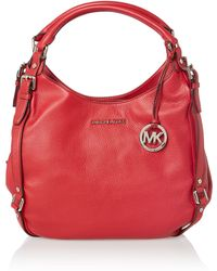 Michael Kors Bedford Red Hobo Bag - Lyst