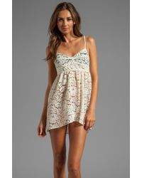 Zinke - Annabelle Lace Chemise in Ivory - Lyst