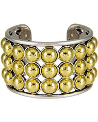 Giles & Brother Two-Toned Ball Cuff Bracelet silver - Lyst