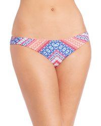 Shoshanna | Chevron Tapestry Classic Bikini Bottom | Lyst