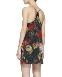 Alice + Olivia Fierra Floralprint Chiffon Dress - Lyst