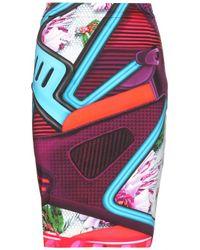 Mary Katrantzou Diamond Printed Stretch-Cotton Skirt - Lyst