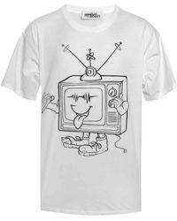 Jeremy Scott | Cartoon Couture Television Print T-shirt | Lyst