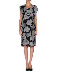 Lanvin Floral Crêpe Floral Floral Knee-Length Dress - Lyst