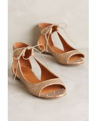Miss Albright - Scaled Cut-Out Flats - Lyst