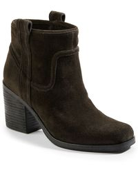 Belle By Sigerson Morrison Lagoon Suede Booties - Lyst