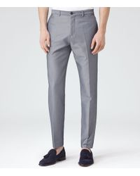 Reiss Weston Zigzag Patterned Trousers - Lyst