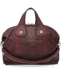 Givenchy Nightingale Medium Python Satchel Bag - Lyst