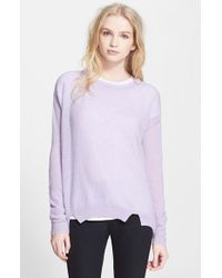 Rebecca Taylor Wool and Cashmere Sweater - Lyst