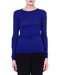 Enza Costa Long-sleeved Jersey Top - Lyst