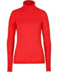 Roksanda Ilincic Wool-mohair Colorblock Turtleneck Pullover - Lyst