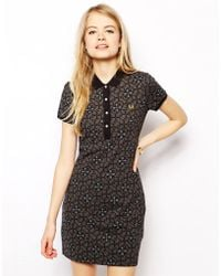 Fred Perry Geo Floral Polo Dress - Lyst