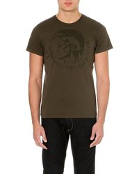 Diesel T-Achell Cotton-Jersey T-Shirt - For Men - Lyst