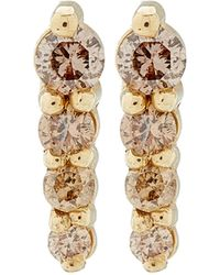 Anna Sheffield - Gold Pave Pointe Stud Earrings - Lyst
