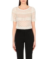 Temperley London Temp M 7 Top Angeli Fishnet Cr - Lyst