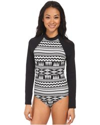 Seafolly Future Tribe Surf Maillot black - Lyst