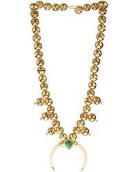 Aurelie Bidermann Navajo Bells Gold-Plated Necklace gold - Lyst