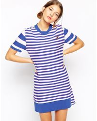 Sonia by Sonia Rykiel Knitted Dress In Stripe With Frill - Lyst