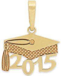 Macy's Us 2015 Graduation Cap Charm In 14K Gold - Lyst