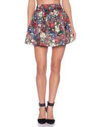 Alice + Olivia Fizer Box Pleat Skirt - Lyst