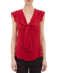 Derek Lam Self Tie Silk Top - Lyst