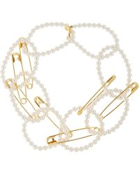 Tom Binns - Pearls in Peril Gold-plated Pearl Necklace - Lyst