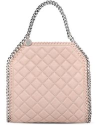 Stella McCartney | Falabella Studded Quilted Shaggy Deer Mini Tote | Lyst