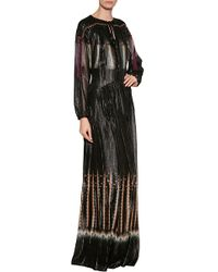 Etro Lurex Maxi Dress - Lyst