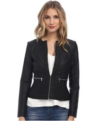 French Connection Plush Pu Jacket 75Dbo - Lyst