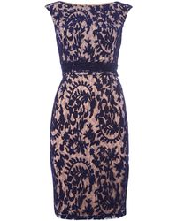 Adrianna Papell Brocade Lace Shift Dress - Lyst