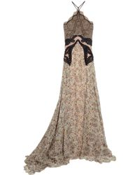 Stella McCartney Green Carpet Challenge Lace and Floral-print Silk-chiffon Gown - Lyst