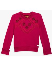 7 For All Mankind - Girls 4-6x Pop-over Sweater In Anemone - Lyst