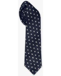 7 For All Mankind - The Kerringtong Slim Tie In Navy - Lyst