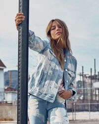 7 For All Mankind - Oversized Jacket In Bloomfield - Lyst
