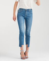 7 For All Mankind - High Waist Josefina With Angled Seams In Canyon Ranch - Lyst