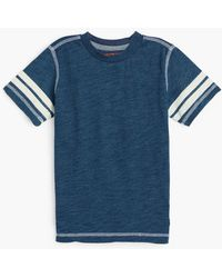 7 For All Mankind - Boy's 4-7 Crew Neck Tee In Indigo Dipped - Lyst