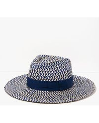 7 For All Mankind - Joanna Hat In Navy And Khaki - Lyst