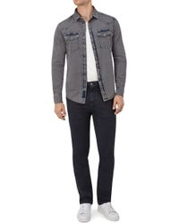 7 For All Mankind | Slimmy Chino Luxe Performance Sateen Navy | Lyst
