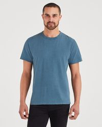7 For All Mankind - Short Sleeve Vintage Tee In Steel Blue - Lyst