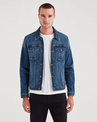 7 For All Mankind - Trucker Jacket In Phenomenon - Lyst