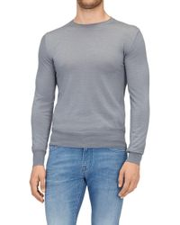 7 For All Mankind - Crew Neck Knit Cashmere Grey - Lyst