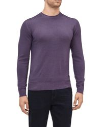 7 For All Mankind - Crew Neck Knit Wool Abrasions Violet - Lyst