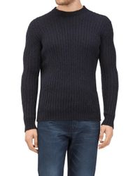 7 For All Mankind - Crew Neck Knit Mix Mohair Ink Blue - Lyst
