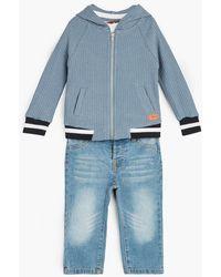 7 For All Mankind - Boy's 2t-4t Hoodie Tee Jean In Bering Sea - Lyst