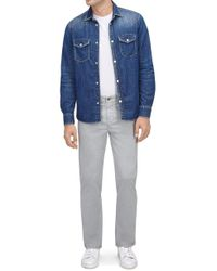 7 For All Mankind | Slimmy Chino Light Weight Cloud Grey | Lyst